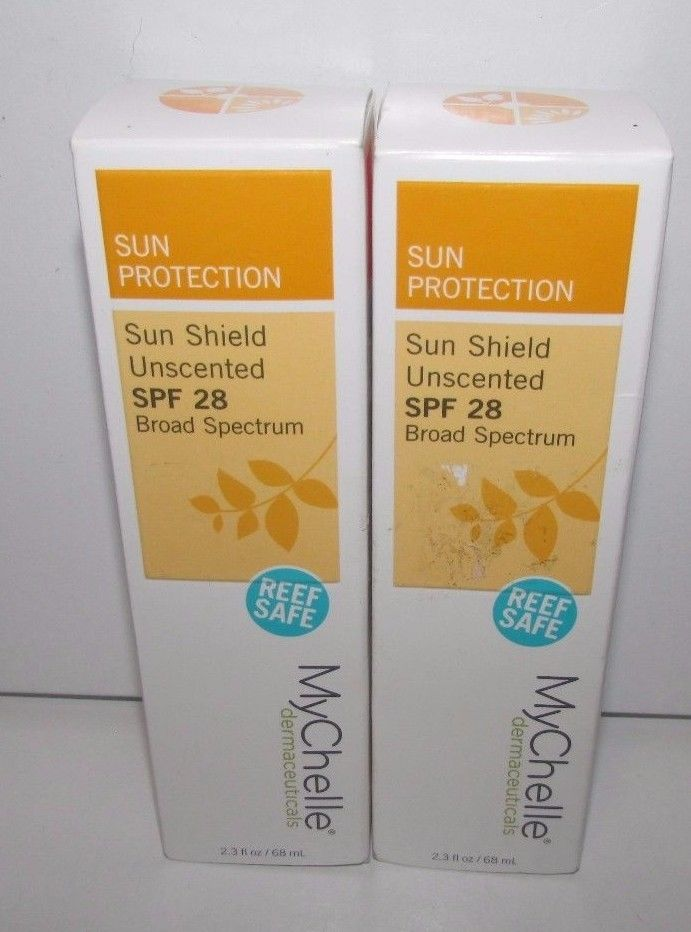 2 MyChelle Sun Shield Unscented SPF 28, Mineral-Based Sunscreen with Zinc 2.3