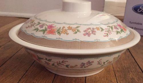 Vintage Melamine Ware Covered Casserole Dish Bowl  Melawares 103