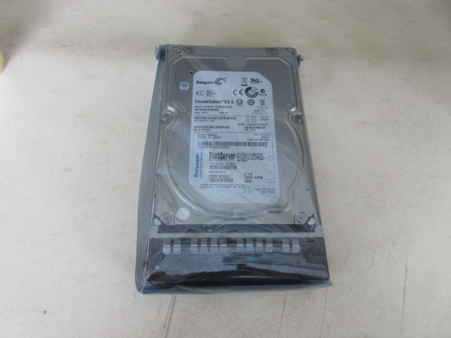 Seagate IBM 2 TB 7200 RPM SAS FRU 03T7731 Model ST2000NM0023 New