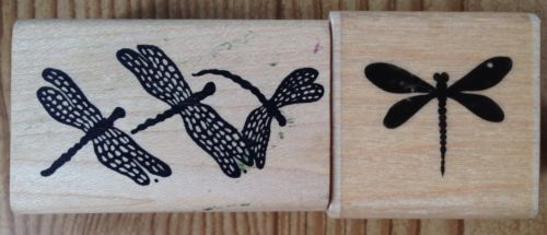 Lot of 2 Dragonfly Rubber Stamps Paper Inspirations In The Hand
