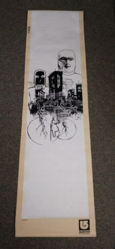 6 foot long Burton snowboard fabric banner. store  sign Super Cool and rare!!