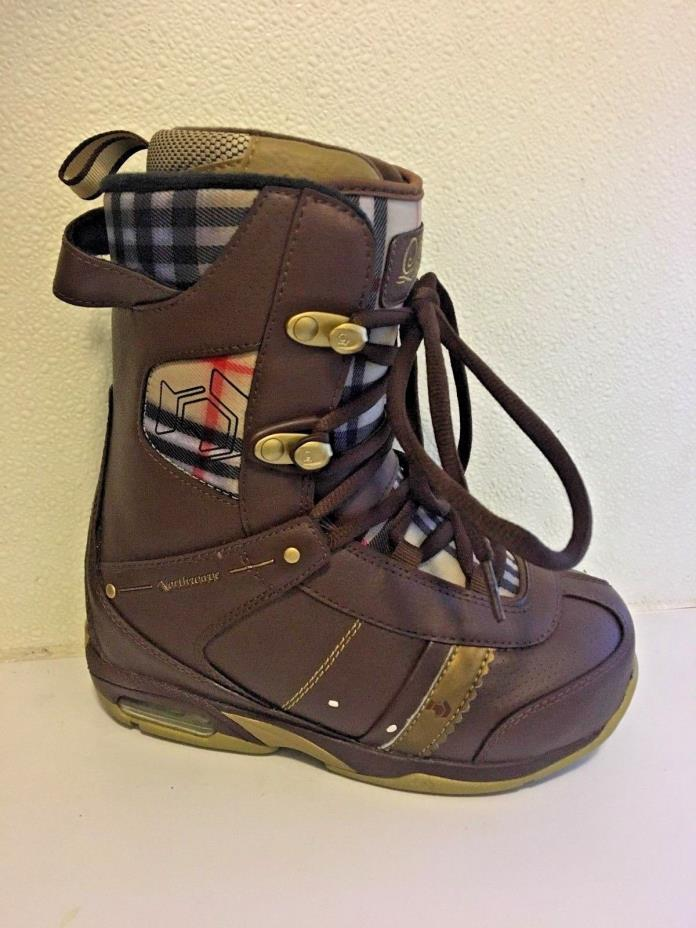 Northwave Legend Lady Brown and Burberry Snowboard Boots - 5.5