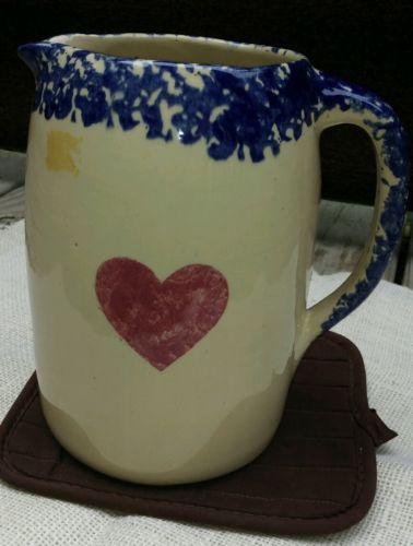 Alpine Pottery Ohio 1995 Roseville Heart Pitcher
