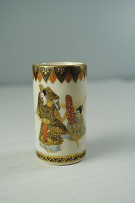 Satsuma Japanese Pottery Miniature Vase