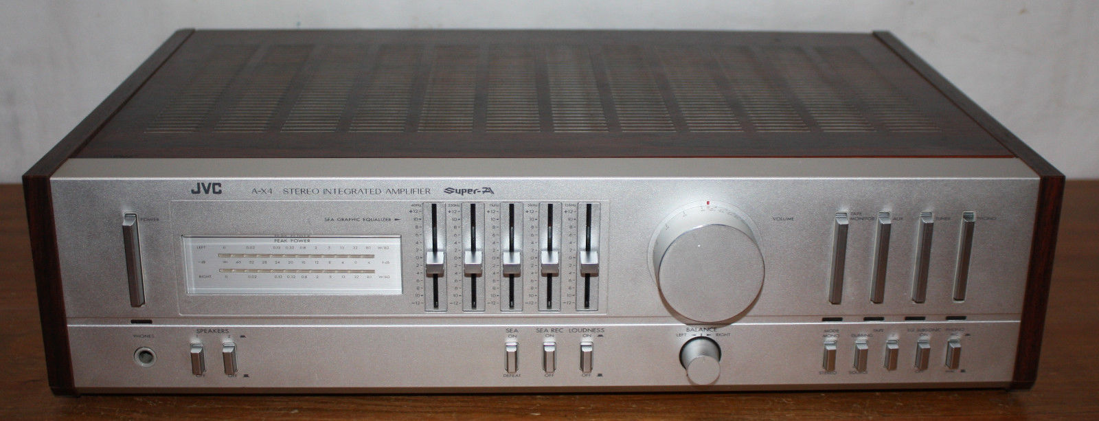 JVC Stereo Integrated Amplifier A-X4, Stereo, Super-A, Graphic Equalizer, Phono