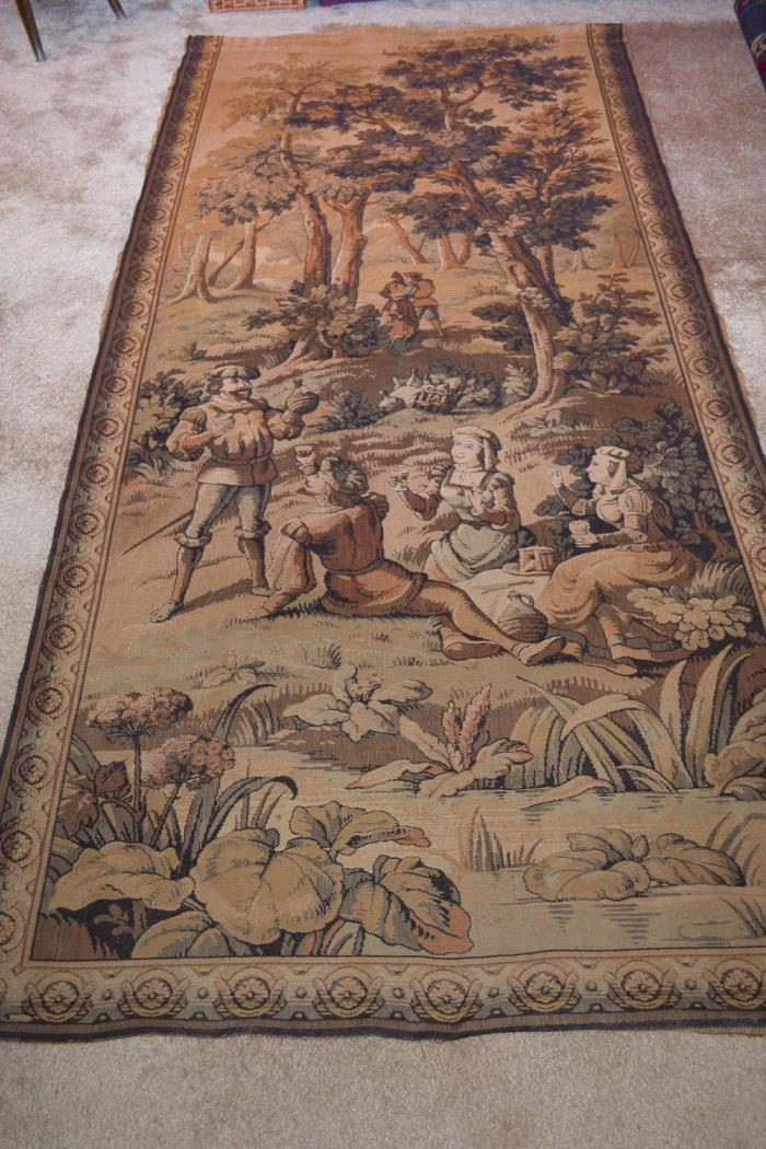 Large original French 19th C tapestry