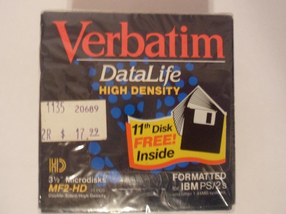 Verbatim DataLite, Data Lite HIgh Density 3 1/2