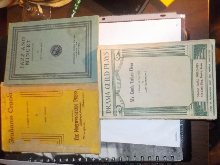 Lot of 3 1930s  and 40s play scripts