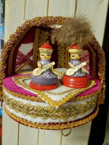 Jewelry Box Most Unusual asian wedding musicians felt feathers gold trim