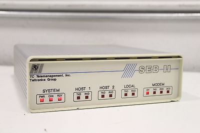 Teltronics TC Telemanagement Site Event Buffer SEB II 64K Model 2