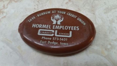 Vintage Advertising Rubber Coin Pouch HORMEL Employees Union Ft. Dodge Iowa NEW