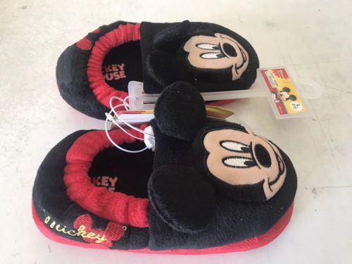 Disney Mickey Mouse Toddler House Slippers Size Large 9-10