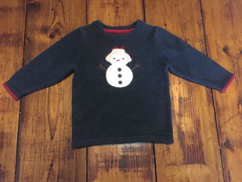 Adorable OshKosh Baby Boy Snowman Christmas Holiday Sweater Size 18M