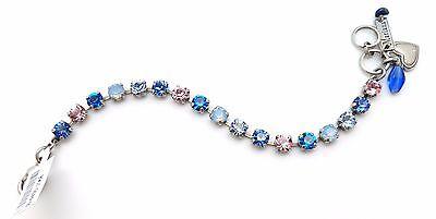 MARIANA Silver Small Swarovski Crystal Bracelet Blue Pink 1068 Kiss From A Rose