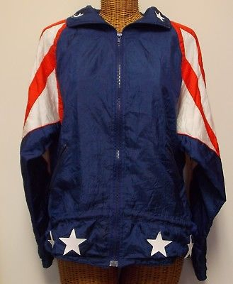 ON THE BRINK SPORT AMERICAN FLAG JACKET SIZE M