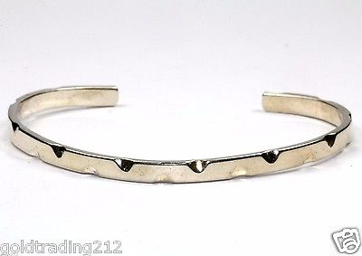 VINTAGE MEXICO TRIANGLE NOTCHES CUFF BRACELET 925 STERLING BR 958