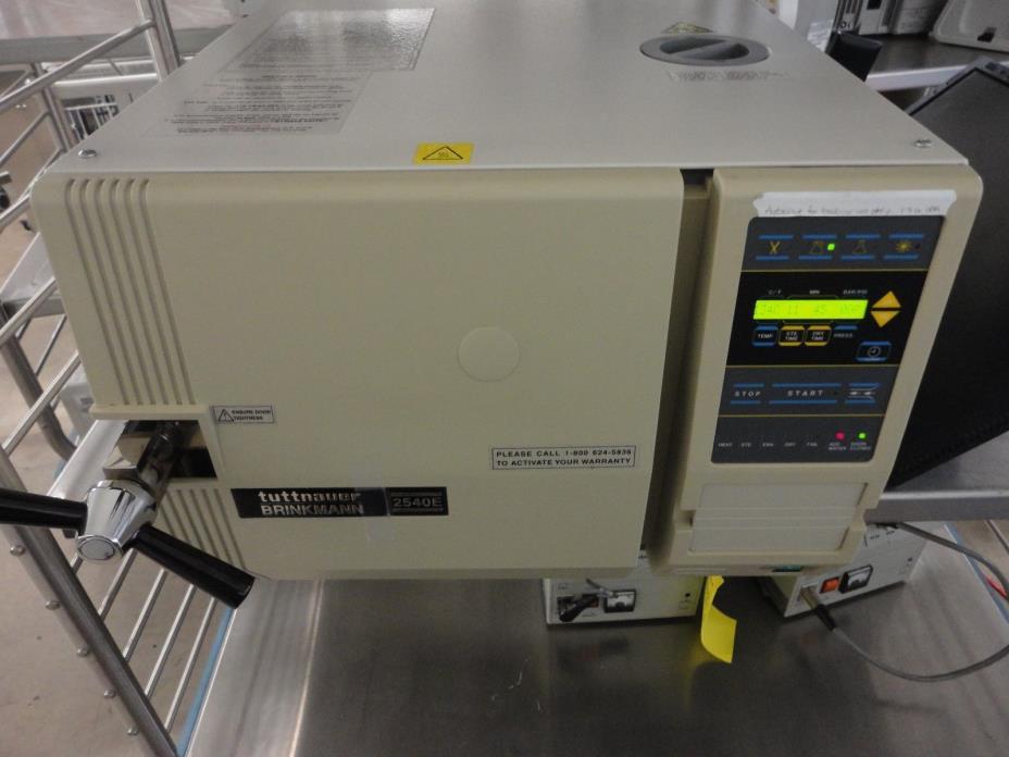 Tuttnauer 2540E Autoclave Steam Sterilizer medical dental vet surgical