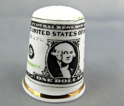 Dollar Bill Thimble – BIRCHCROFT Fine Bone China - Made in Great Britain