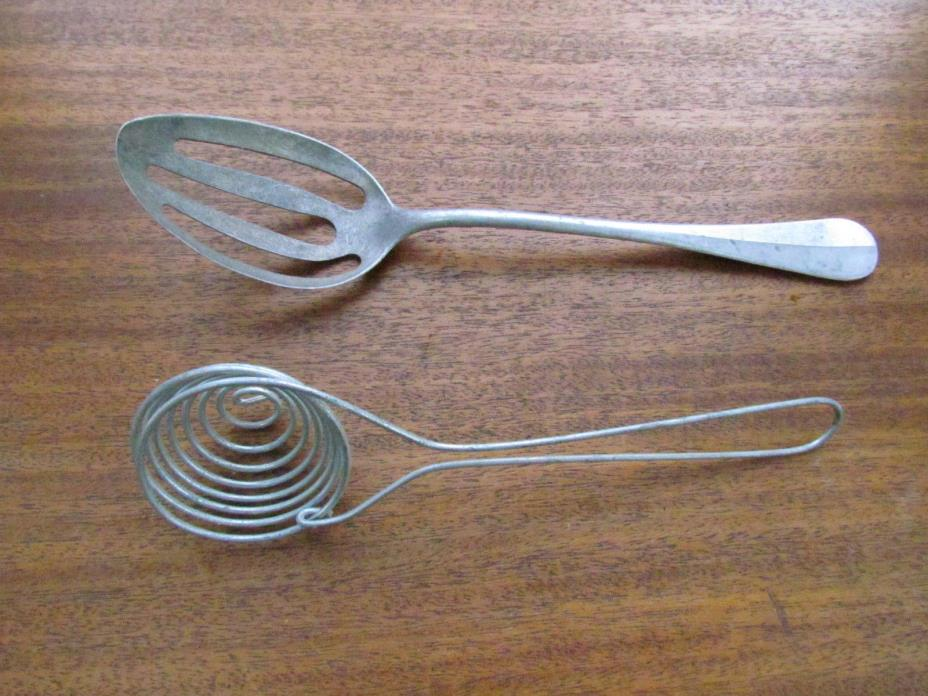 G.M.T. & Bros Slotted Spoon Germany aluminum and Wire Spoon Strainer Utensil BS1