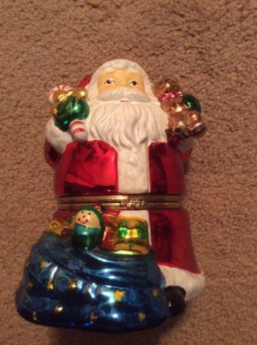 Iridescent Santa Music Box
