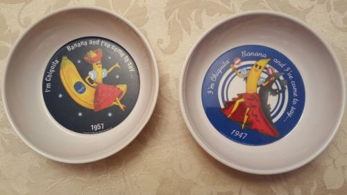 Chiquita Banana Cereal Bowls Cartoon I've Come to Say Song Plastic 1987 Melamine