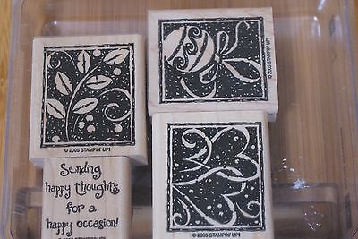 Stampin Up Happy Occasions Stamp Set Unused 4 Stamps Retired