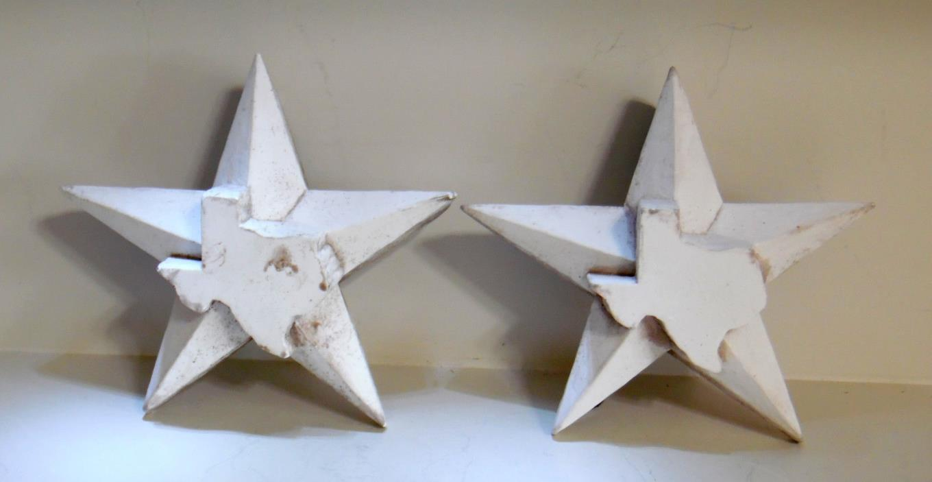ONE (1) TEXAS STAR SHAPED SCULPTURE/PAPERWEIGHT  J. L. JIMMY DeMOSS 2002 2 AVAIL