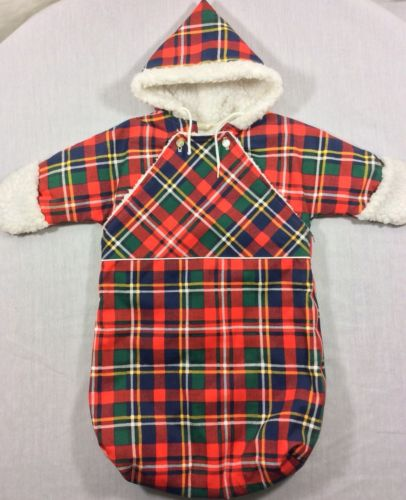 Baby Cuddler Quiltex Wearable Winter Snow Blanket Infant Quilted Sherpa Hooded