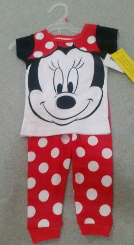 NWT disney Minnie  mouse pajamas 18 months  girls 2 piece