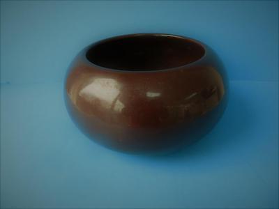 Vintage North American Pottery Dark Brown Bowl, Phoenix, Az. 1950's 1960's