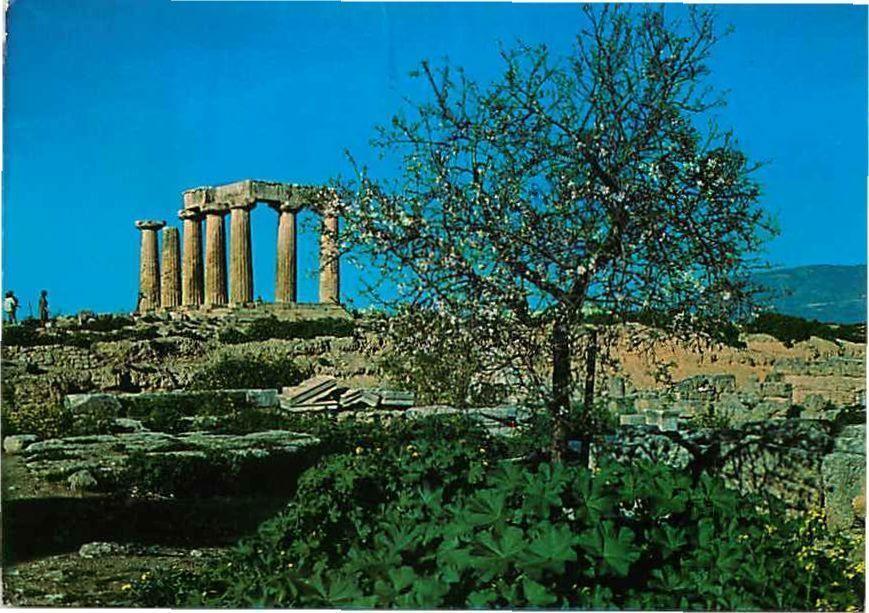 Postcard Temple of Apollo, Corinthe, Greece