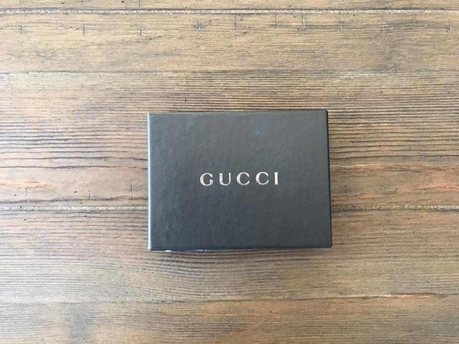 GUCCI STORAGE JEWELRY BOX WITH POUCH AND CONTROL NUMBER