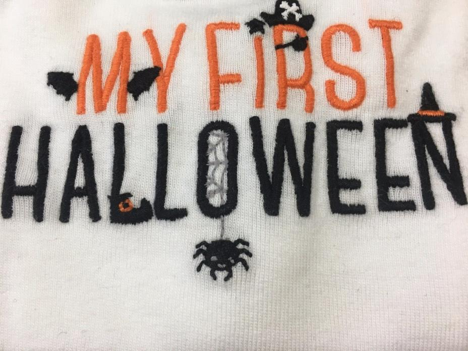 Just One You By Carters Long Sleeve Bodysuit My First Halloween Size Newborn