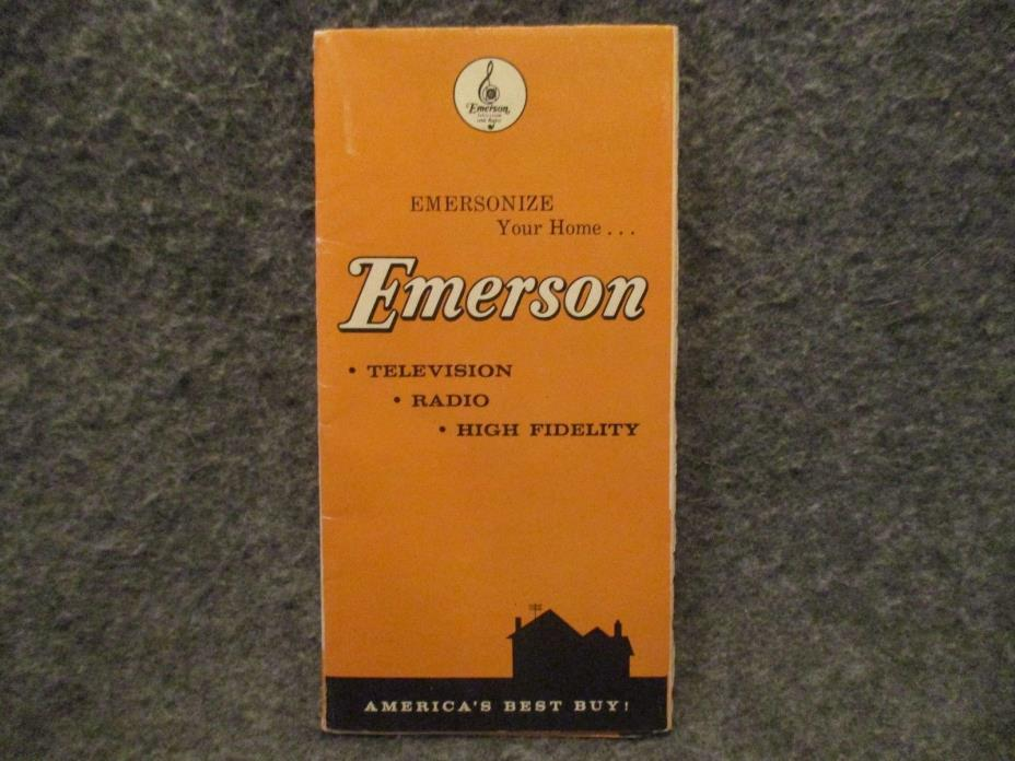 1958 Emerson Television Radio Vintage Advertising Brochure Booklet Pamphlet
