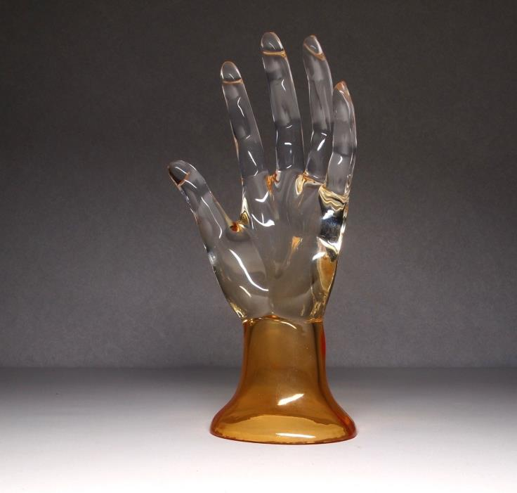 Clear Plastic Display Hand Mannequin Jewelry Holder Ring Stand