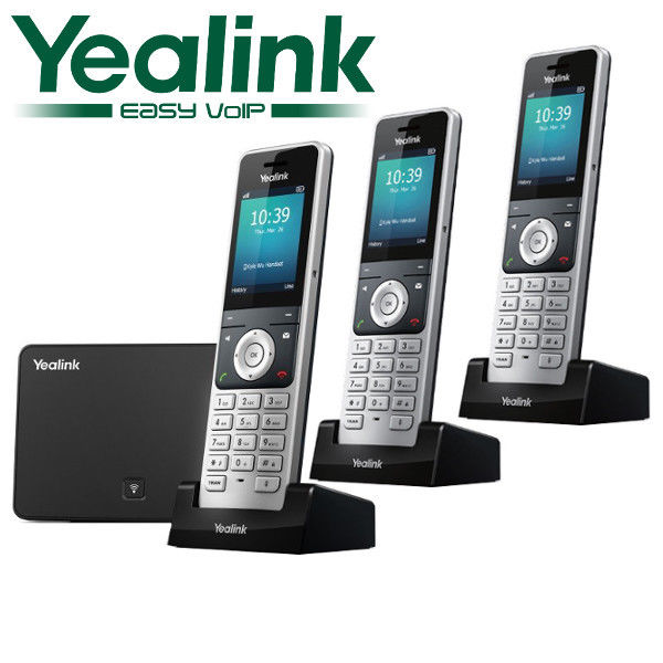 Yealink W56P DECT 3 Cordless Handset VOIP Phone Business Wireless IP W56P + W52H