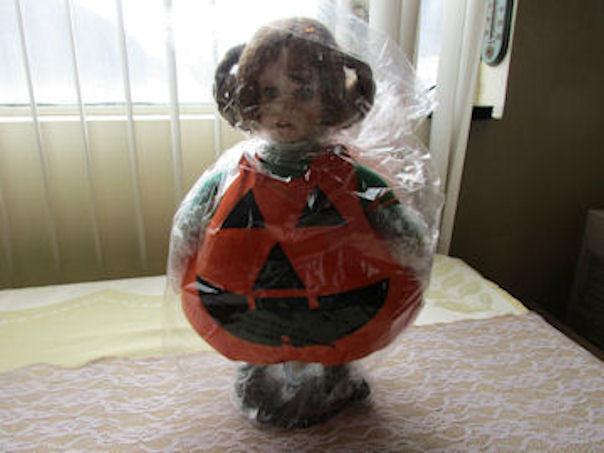 Lil Pumpkin Porcelain Doll