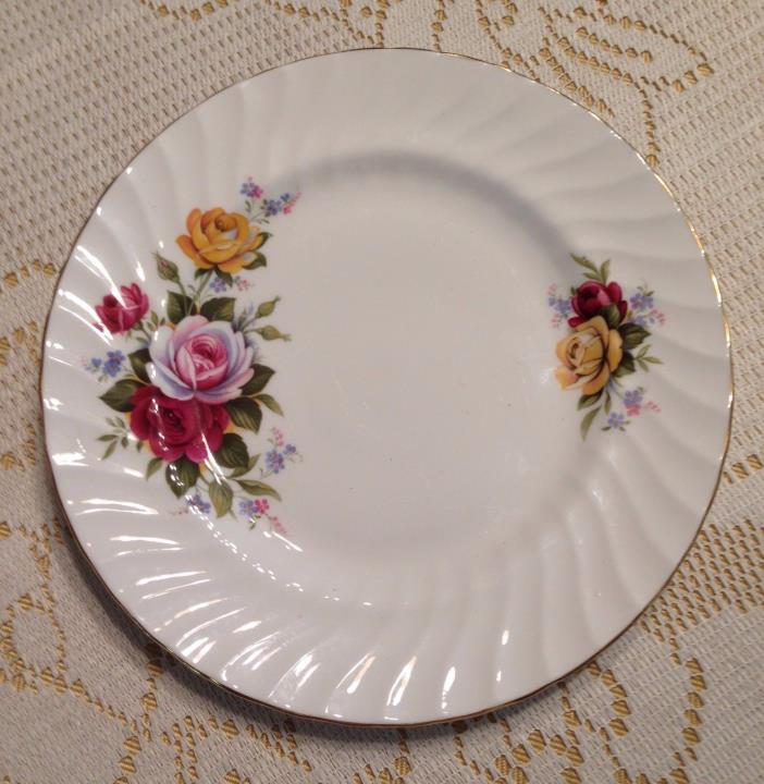 Staffordshire Lady Elizabeth Salad Plate Fine Bone China 8 inch England