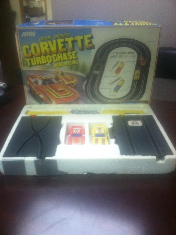 Vintage Genuine Artin Corvette Turbo Chase Road Racing Game