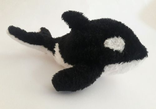 AURORA black & white Orca Killer Whale Beanie Plush Stuffed Animal TOY 10