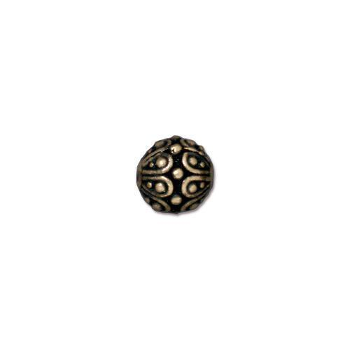 TierraCast - (6) Antiqued Brass Plated Decorative Beads - Casbah 7mm