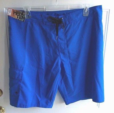 NWT Hang Ten Men's Blue Board Shorts sz 32