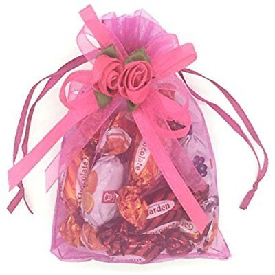 Gift Baskets Organza Bags Inch Drawstring Pouch Jewelry Party Wedding Favor Red)