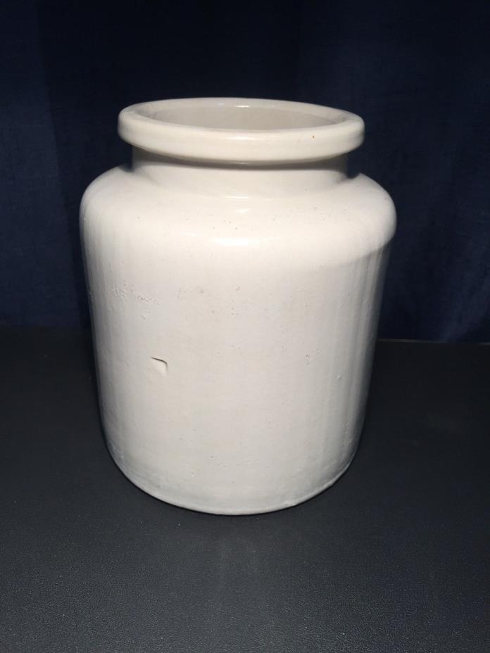 Small Beige Stoneware Crock