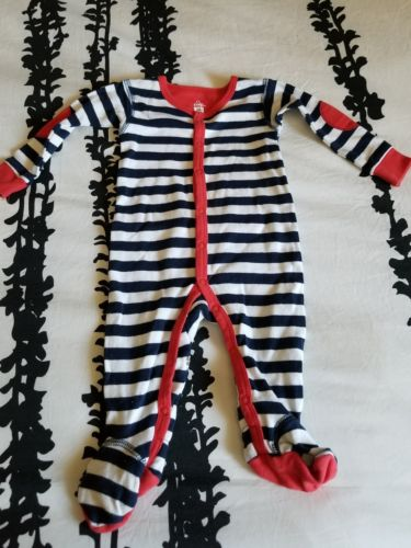 Baby 3 month pj red white stripes, cotton