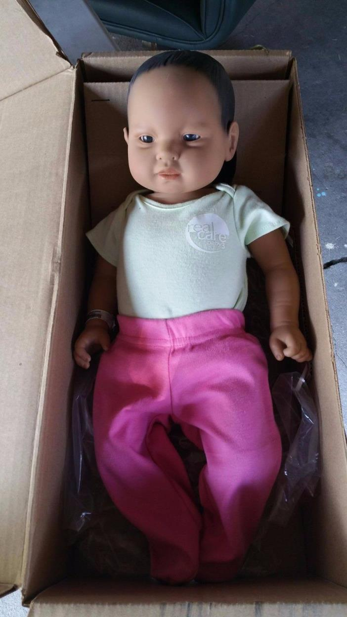 REALITY WORKS REAL CARE  BABY 3 FEMALE EDUCATIONAL BABY in box