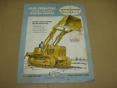 Case-Terratrac Tractor-Shovels Sales Brochure  1957