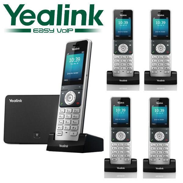 Yealink W56P DECT 5 Cordless Handset VOIP Phone Business Wireless IP W56P + W52H