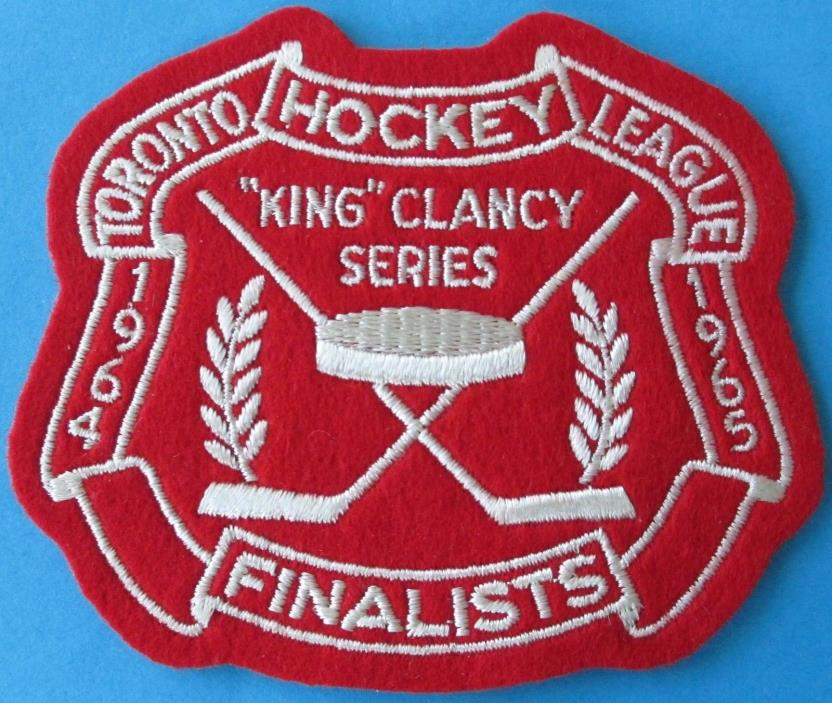 1964-65 KING CLANCY SERIES Toronto Hockey League Finalist JERSEY PATCH Brad Park