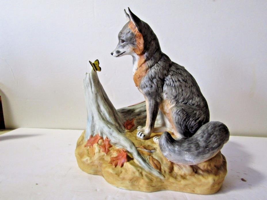 Ski Country Grey Fox and Butterfly Decanter